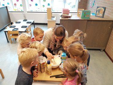 Pannenkoeken bakken op de Voorschool