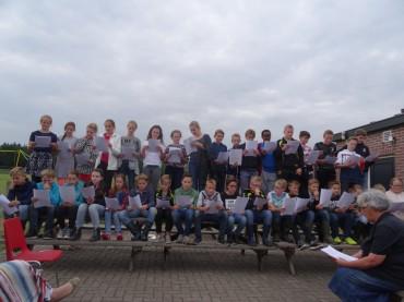 Groep 8 op schoolkamp
