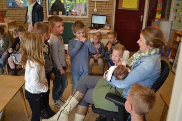 Bezoek van juf Corrie Aalberts en Maud