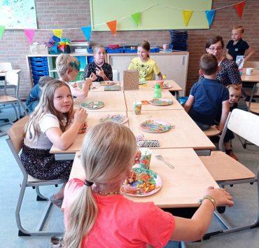 Groep 6 – High tea en verjaardag juf Florijn